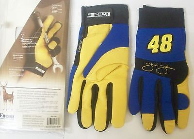 Nascar Series Jimmie Johnson 48 Deerskin Leather Work Driving Gloves - Small