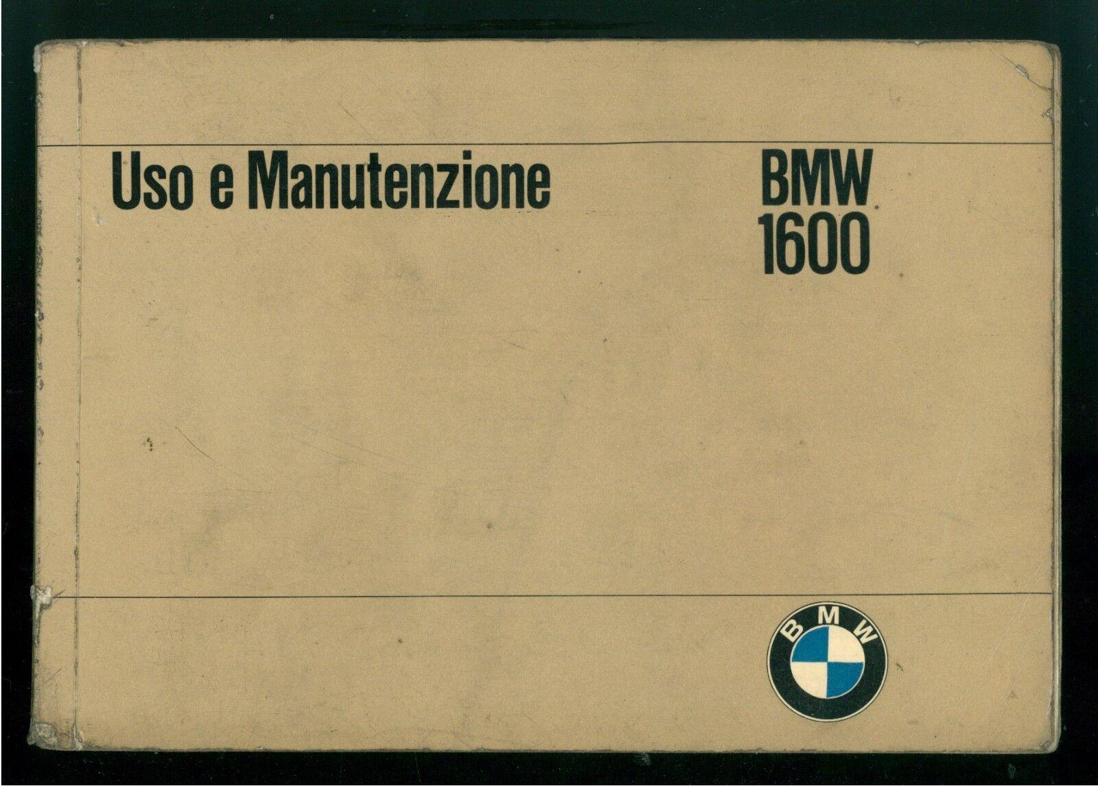BMW 1600 LIBRETTO USO E MANUTENZIONE 1966 AUTOMOBILI MOTORI MACCHINE