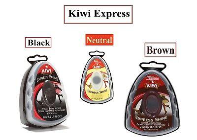 Kiwi Express Shine Wax Shoe Instant Sponge Black Neutral & Brown 6G