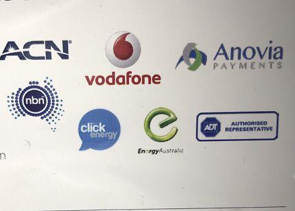 Phones, Security, Energy/gas, internet, Merchant services