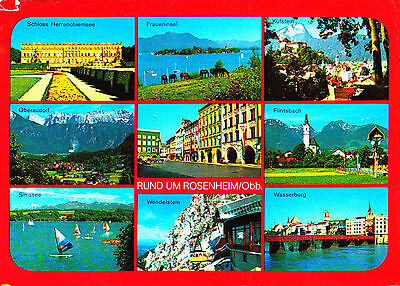 Rund um Rosenheim / Obb. , Ansichtskarte ,1989 gelaufen
