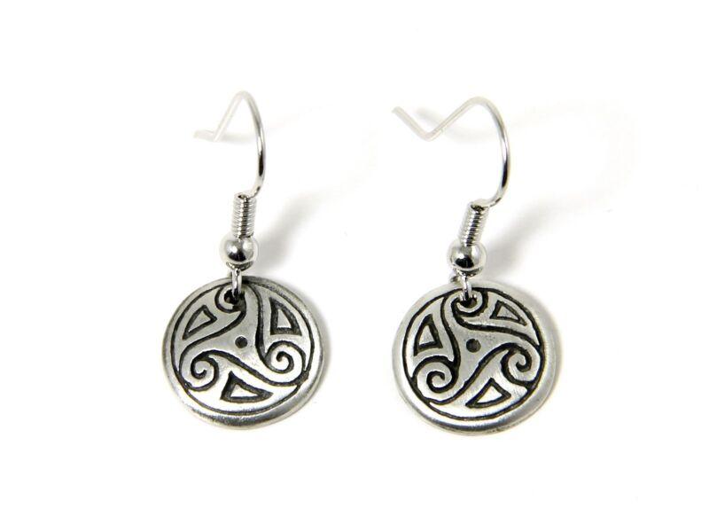 Irish Pewter Celtic Path of Life Earrings