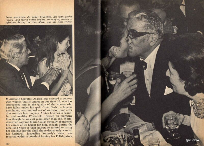 ARISTOTLE ONASSIS 1970 UGLY BEAUTIFUL MAN PICTORIAL MARIA CALLAS JACKIE KENNEDY