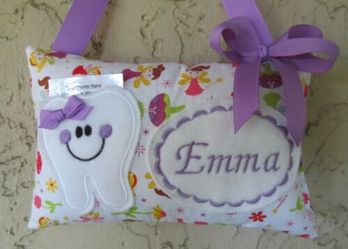 Tooth Fairy Pillow Personalized Fairy, Fairies, Purple, Easter Basket Stuffer