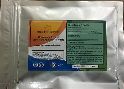 APIGENIN Chamomile Extract (98%Apigenin by HPLC) Powder Pure No Fillers