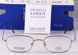 New Titanium Fratelli Lozza Optical Frame Made in Italy 9028 Gold 50-19-140