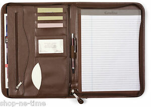 Leather Padfolio Zipper Clothing Shoes Amp Accessories Ebay