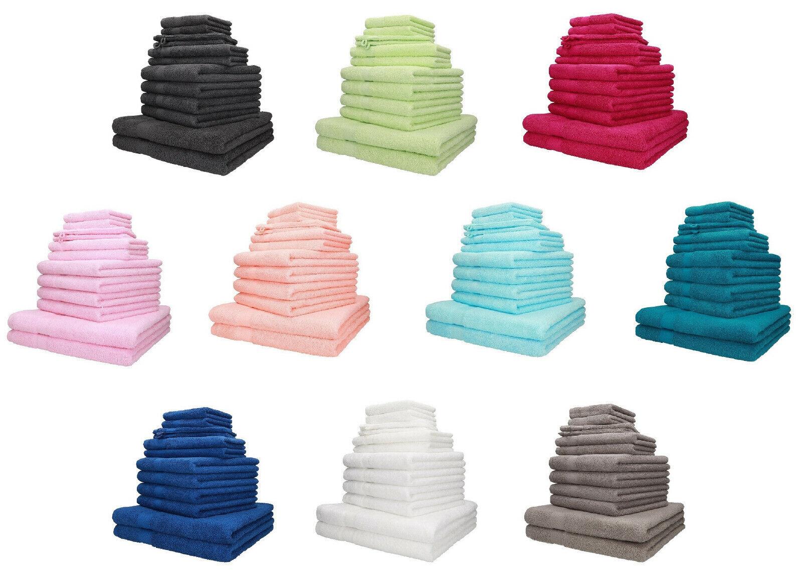 Betz 12-tlg. Handtuch-Set PALERMO 100%Baumwolle verschiedene Farben