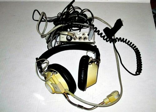 Revere Electronics Hush-A-Com Pilot Aviation Aircraft Head Set & Mute Device