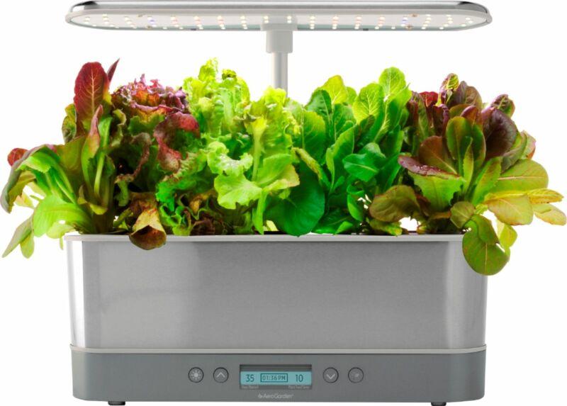 AeroGarden - Harvest Elite Slim Indoor Garden Easy Setup 6 grow pods in...