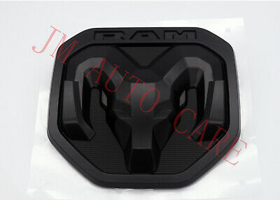 2014-2018 Dodge Ram 1500 2500 3500 TAILGATE RAMS HEAD BADGE EMBLEM BLACK MOPAR