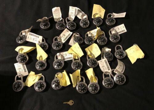 COMBINATION LOCKS-LOT OF 27-INCLUDES 1 MASTER KEY-NEW