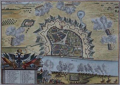 Bonn Belagerung - Merian 1698 - Originaler Kupferstich