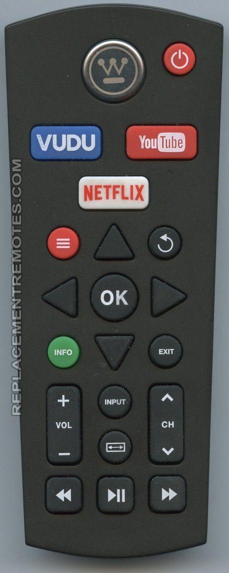 Westinghouse Smart Tv Remote Control Netflix Wd60mb2240rc