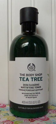 THE BODY SHOP TEA TREE SKIN CLEARING MATTIFYING TONER (13.5 OZ) BLEMISHED