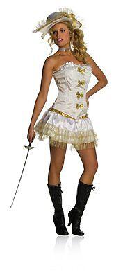 Gr. L Sexy Musketeer Musketier Damen Kostüm Barok Karneval Fasching Korsage Mini