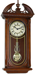 (New!) SHENANDOAH Quartz Chiming Wall Regulator Clock Hermle Clocks 70731-032214