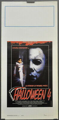 Halloween 4 The Return Of Michael Myers 1988 Orig 13X28 Italienisches Filmplakat (Halloween 4 Michael Myers Film)