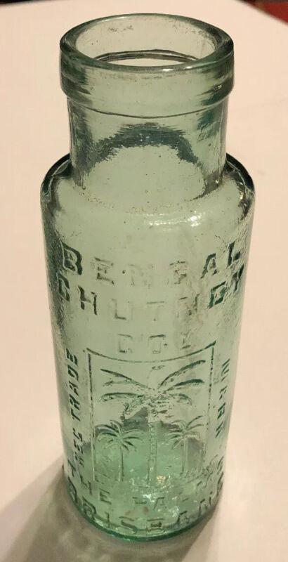 Bengal Chutney Co. Company The Palms Brisbane Australia Antique Green Bottle EUC