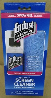 Endust 12275 Screen Cleaning Combo, 6oz gel cleaner and 16