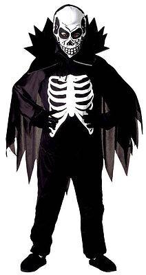 Scary Skelett Halloween Kostüm für Kinder NEU - Jungen Karneval Fasching Verklei ()