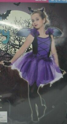 Bat Fairy Costume (Bat Fairy Girl's Halloween Dress-Up Costume Purple Small S (4-6) Living)