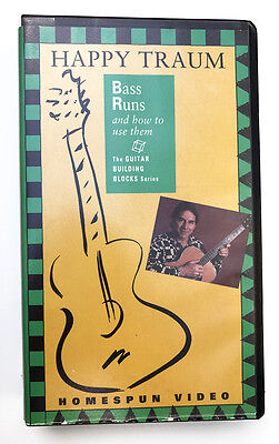 Happy Traum Guitar Bass Runs and How to Use Them - Homespun Tapes - VHS & Tab