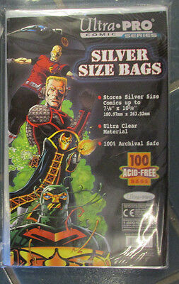 100 Ultra Pro Silver  Storage Bags And Boards  Brand New Factory Sealed