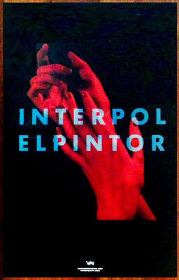 INTERPOL El Pintor 2014 Ltd Ed RARE New Poster +FREE BONUS Indie Rock Poster!