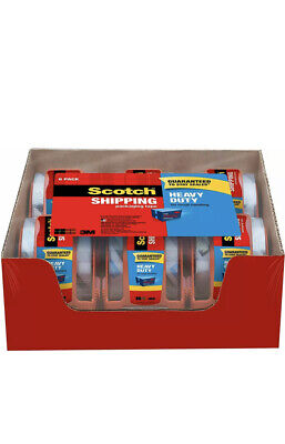 3m Scotch Clear Shipping Packing Tape 1.88x 800 6 Rolls Wdispenser Heavy Duty