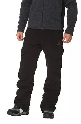 Gerry Men's Fleece Lined Snowboard Ski Snow Pants 4 Way Stretch, (Line Ski Clothing)