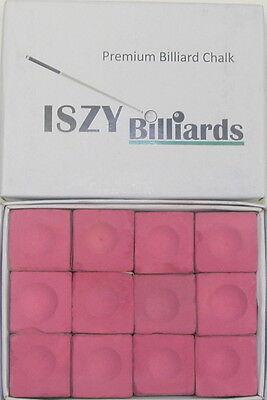 Premium Pool Table Billiard Cue Chalk 12 Pieces Pink