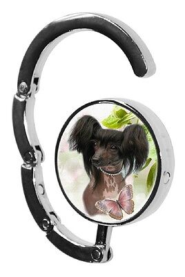 Chinese Crested Dog Table Bag Handbag Purse Hanger Hook-1 by paws2print