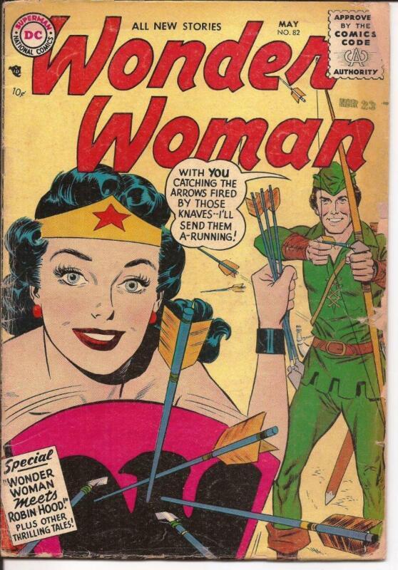 DC Wonder Woman #82 Wonder Woman Meets Robin Hood Diana Prince Steve Trevor