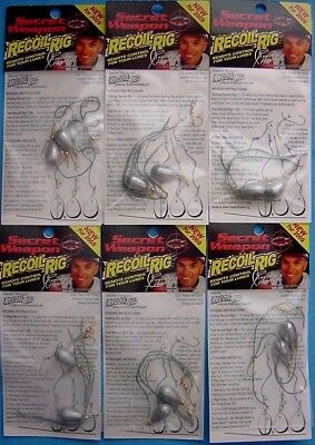 6 PACKS -Randy Howell's Secret Weapon 1/2 oz-Recoil Rig-Drop Shot-Action Control