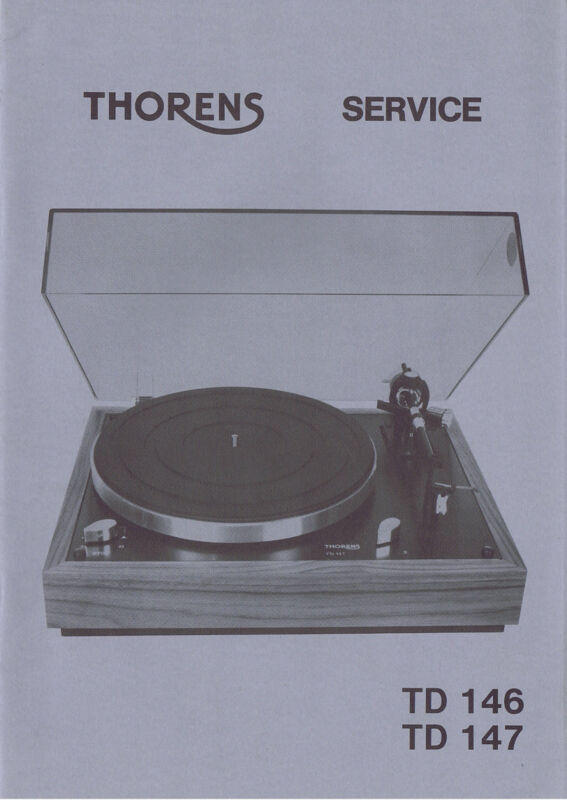 VINTAGE NEW OLD STOCK THORENS TD 146 & 147 SERVICE MANUAL