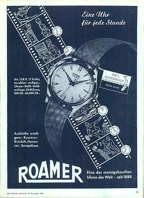 Roamer-1954-Reklame-Werbung-genuine Advert-La publicité-nl-Versandhandel