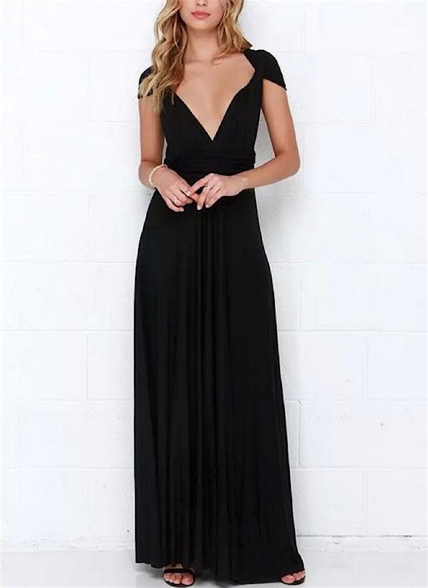 Woman dress mod.110003NE Pizzo Vestito Donna Nero