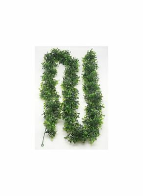 6' Artificial Garland – Varying Green Shades of Leaf in Faux Boxwood (Faux Boxwood Garland)