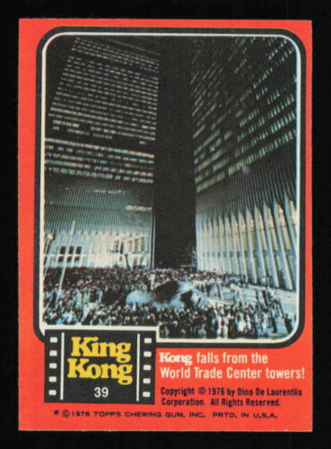 1976 Topps King Kong Movie Trading Card ~ WORLD TRADE CENTER WTC 9/11 NYC RC