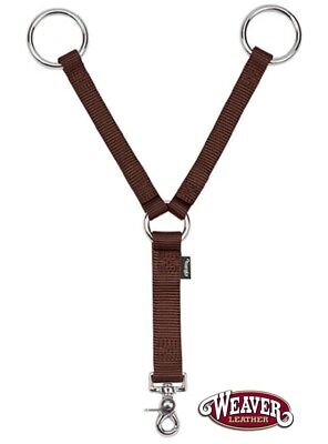 - Training Fork Breast Collar Attachment Thick Nylon Brown by Weaver Leather