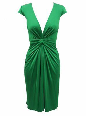 Issa Green Silk Dress UK 8 US 4