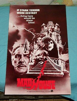 original MADHOUSE PRESSBOOK Vincent Price Peter Cushing Robert Quarry