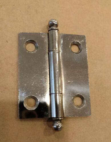 Vtg 2 X 1 5/8 McKinney Nickel/Steel Ball Top Door Cabinet Hinge Removable Pin - $7.50