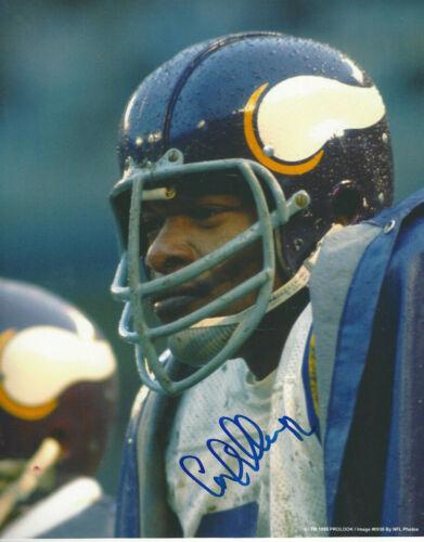 Minnesota Vikings HOF'er Carl Eller autographed action 8x10 color photo