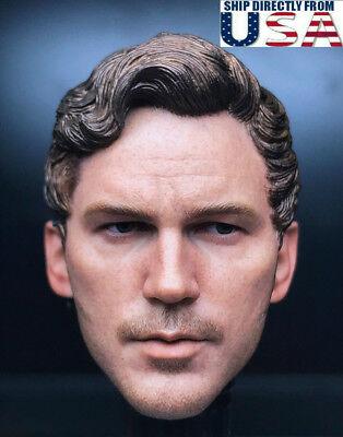 1 6 Chris Pratt Star Lord Head Sculpt Guardians Of The Galaxy For 12  Figure Usa
