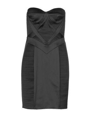 ATELIER SIVIGLIA Black Pleated Bustier Dress 40 4