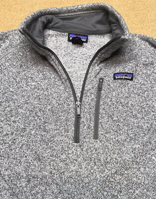 MENS PATAGONIA 1/4 ZIP BETTER SWEATER SIZE L LARGE GRAY NICE