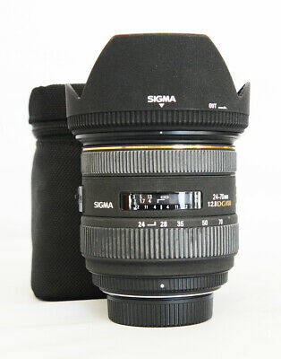 # Sigma DG 24-70mm f/2.8 HSM EX DG IF ASP Lens For Nikon S/N 10018300