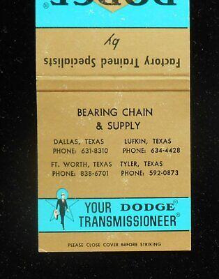 1960s Dodge Power Transmission Bearing Chain Dallas Tyler Lufkin TX Angelina Co